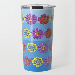 Stacks of Flowers Travel Mug