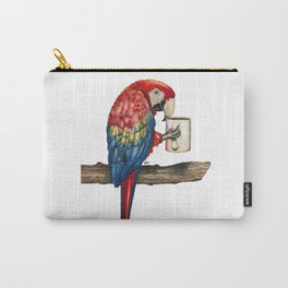 """""""Macawfee in the Morning"""" - Java Jungle collection Carry-All Pouch"""
