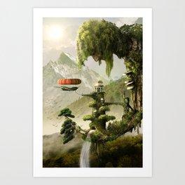 Giant Willow Fantasy Art Print
