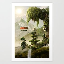 Giant Willow Fantasy Art Print
