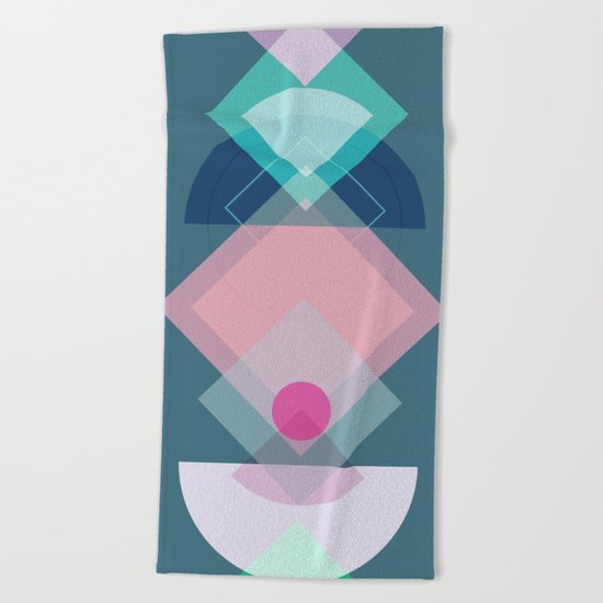 Geometric Play 1 Beach Towel
