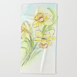 Yearning for Spring Beach Towel