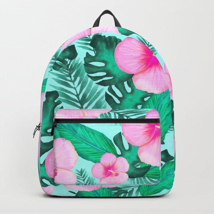 Watercolor Tropical Pattern Backpack