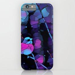 Junco Neon Pink Purple by CheyAnne Sexton iPhone Case