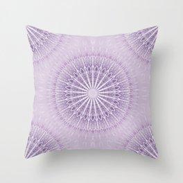 Lavender Geometric Mandala Throw Pillow