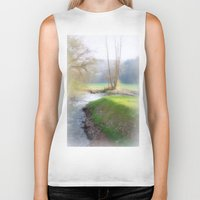 running Biker Tanks featuring Running Water by Laake-Photos