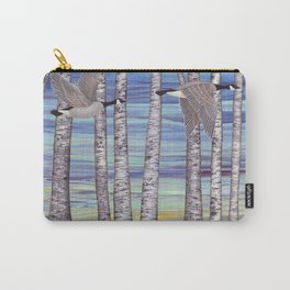 Canada geese, hedgehogs, and autumn birch trees Carry-All Pouch