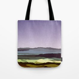 Sunset over the Valley Tote Bag