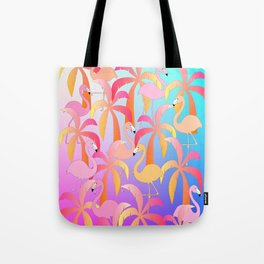 Flamingo Jungle Tote Bag