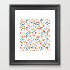 80's rework Framed Art Print