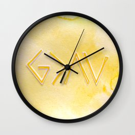 God Is Greater Than The Ups and Downs- YELLOW Wall Clock