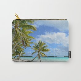 Tropical palm beach in the Pacific Carry-All Pouch