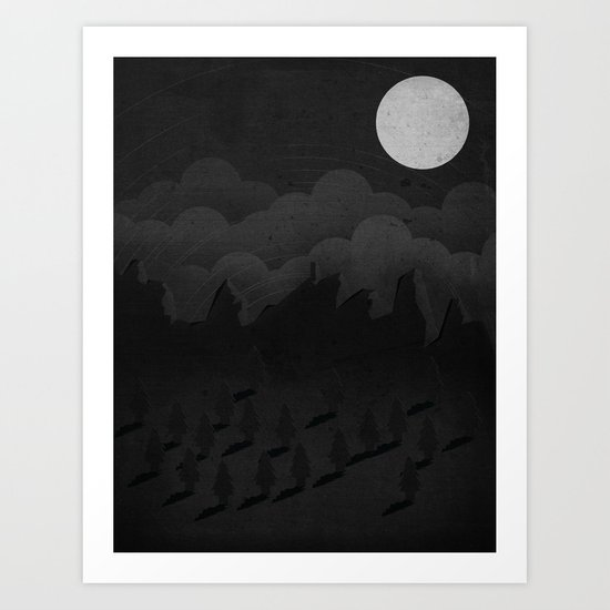 A night in the woods Art Print