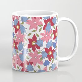 Liberty print in pinks, reds and blues Coffee Mug