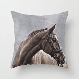 BLAZE AND BRIDLE Throw Pillow