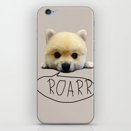 Cute pup with the heart of a tiger iPhone Skin