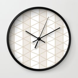 Grid Beige Wall Clock