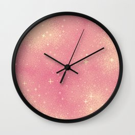 Rose Gold Galaxy Wall Clock