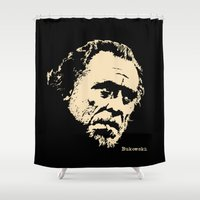 bukowski Shower Curtains featuring Bukowski#! by f_e_l_i_x_x