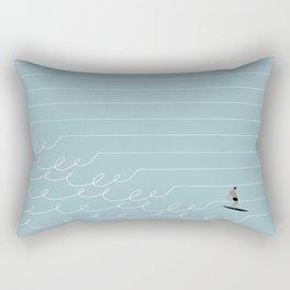 Surf Lines - Blue Rectangular Pillow