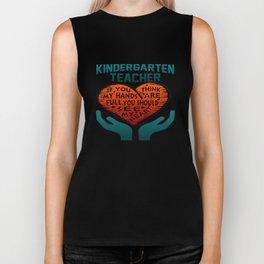 Kindergarten Teacher Biker Tank