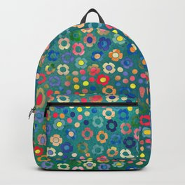 dp065-3 floral pattern Backpack