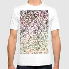 STARRY DAY MANDALA White Mens Fitted Tee MEDIUM