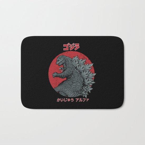 Gojira Kaiju Alpha Bath Mat