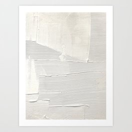 Relief [1]: an abstract, textured piece in white by Alyssa Hamilton Art Kunstdrucke