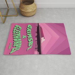Grimsby & Cleethorpes  travel poster Rug