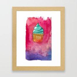 Watercolor Cupcake Framed Art Print