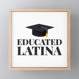 Educated Latina Mujertes Fuertes Empowered Women S Framed Mini Art Print