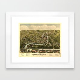 Aerial View of Seymour, Connecticut (1879) Framed Art Print