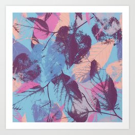 Colorful abstract leaves 1 Art Print