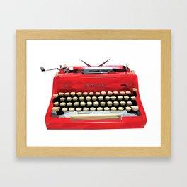 Geometric Vintage Typewriter Framed Art Print