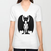 hiccup V-neck T-shirts featuring Heart of a Chief Soul of a Dragon by Chouly-Shop
