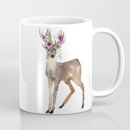 Boho Chic Deer With Flower Crown Coffee Mug