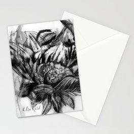 Watercolour Fashion Illustration Printmaking Portrait Sunflowers Stationery Cards