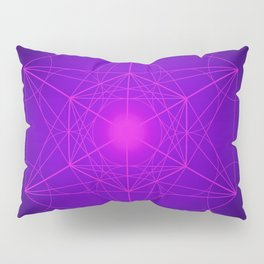 Metatron | Cube | Secret Geometry | Platonic | Matrix | Protects children Pillow Sham