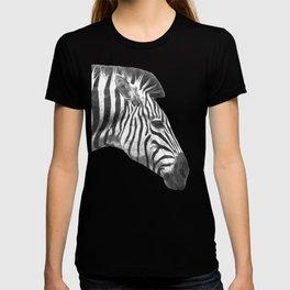 Black and White Zebra Profile T-shirt