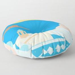 In Greece Floor Pillow