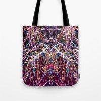 baphomet Tote Bags featuring Baphomet 1 by Kevin Kolstad