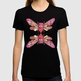 Summer Cicada – Pink Palette T-shirt