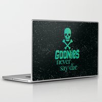 the goonies Laptop & iPad Skins featuring Goonies never say die by Rosaura Grant