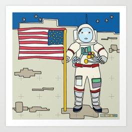 Moon Astronaut 1969 Art Print