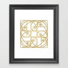 Golden Ropes Framed Art Print