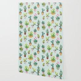 Cactus Pot Personalities Wallpaper