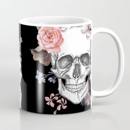 Day Of The Dead Floral Skulls Coffee Mug