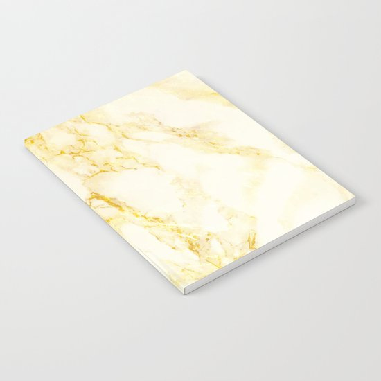 Golden Marble #society6 #decor #lifestyle #fashion Notebook
