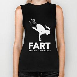 Funny Fart Yoga for Women & Men Breaking Wind Pose Dark Biker Tank